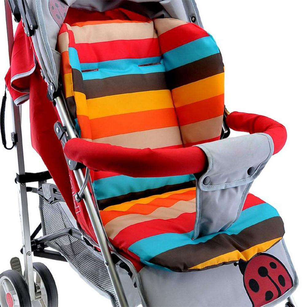 Colored Leaves Baby Stroller//High Chair Seat Cushion Cover Breathable