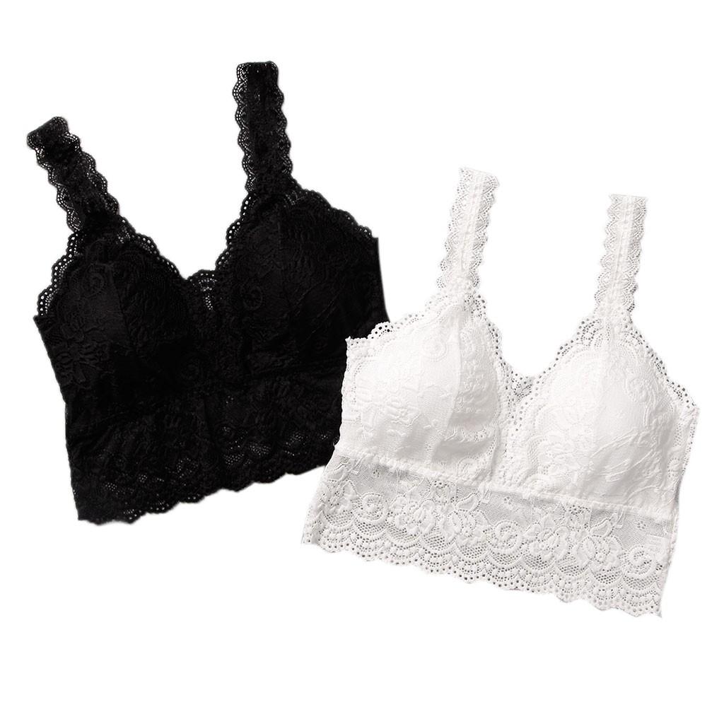 251029a77e398 ROYAL♚ Women Eyelash Lace Bralette Floral Bustier Crop Top Cami Padded Vest