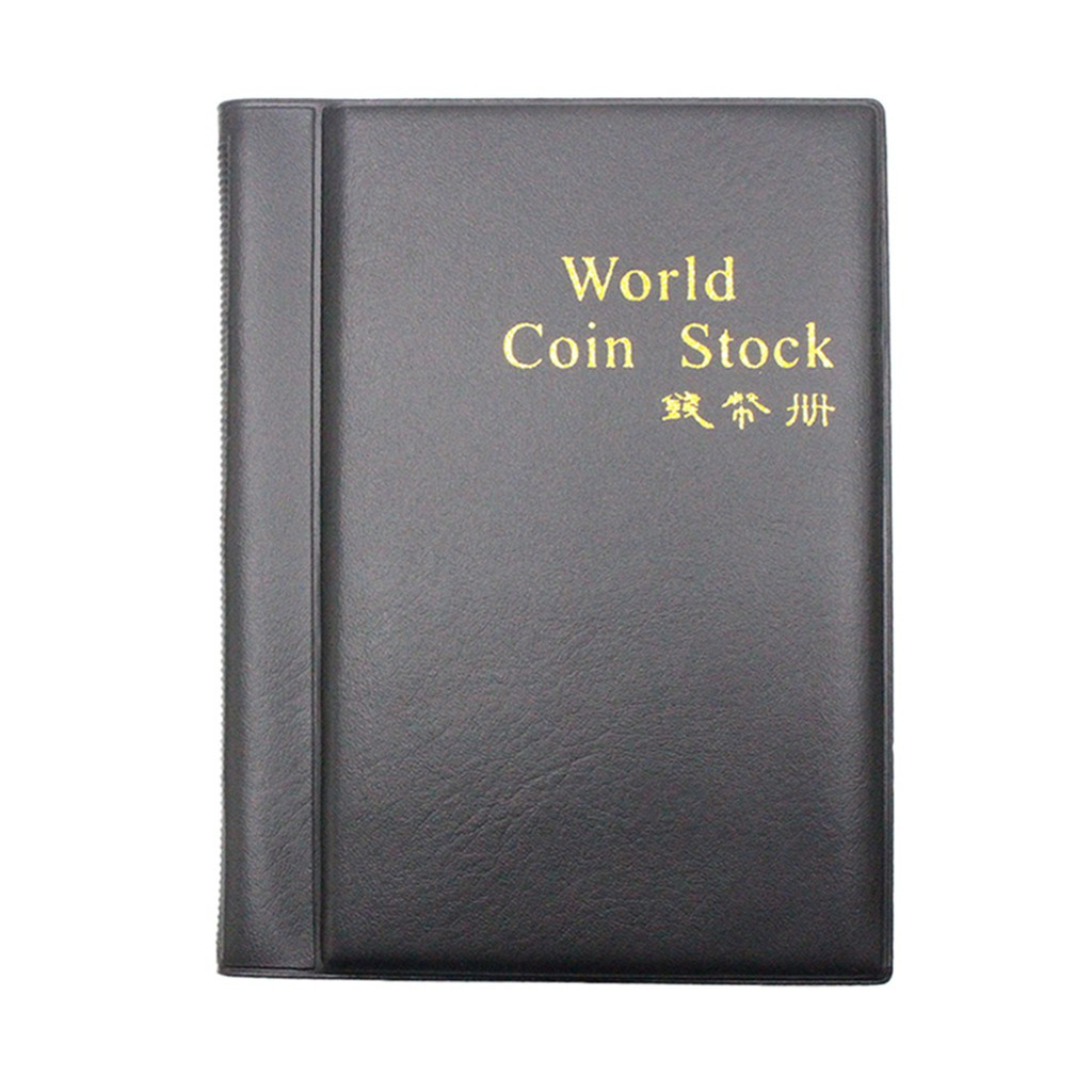 Creative 10 Pages 120 Coin Collection Holder Pocket Money Tokens Storage Album Book