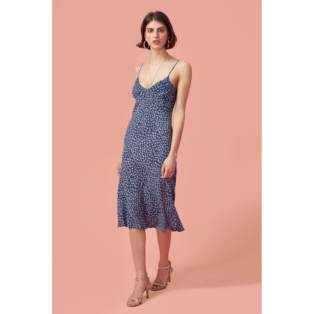91d583df3 INSTOCKS Summer wrap over tie waist floral dress | Shopee Singapore