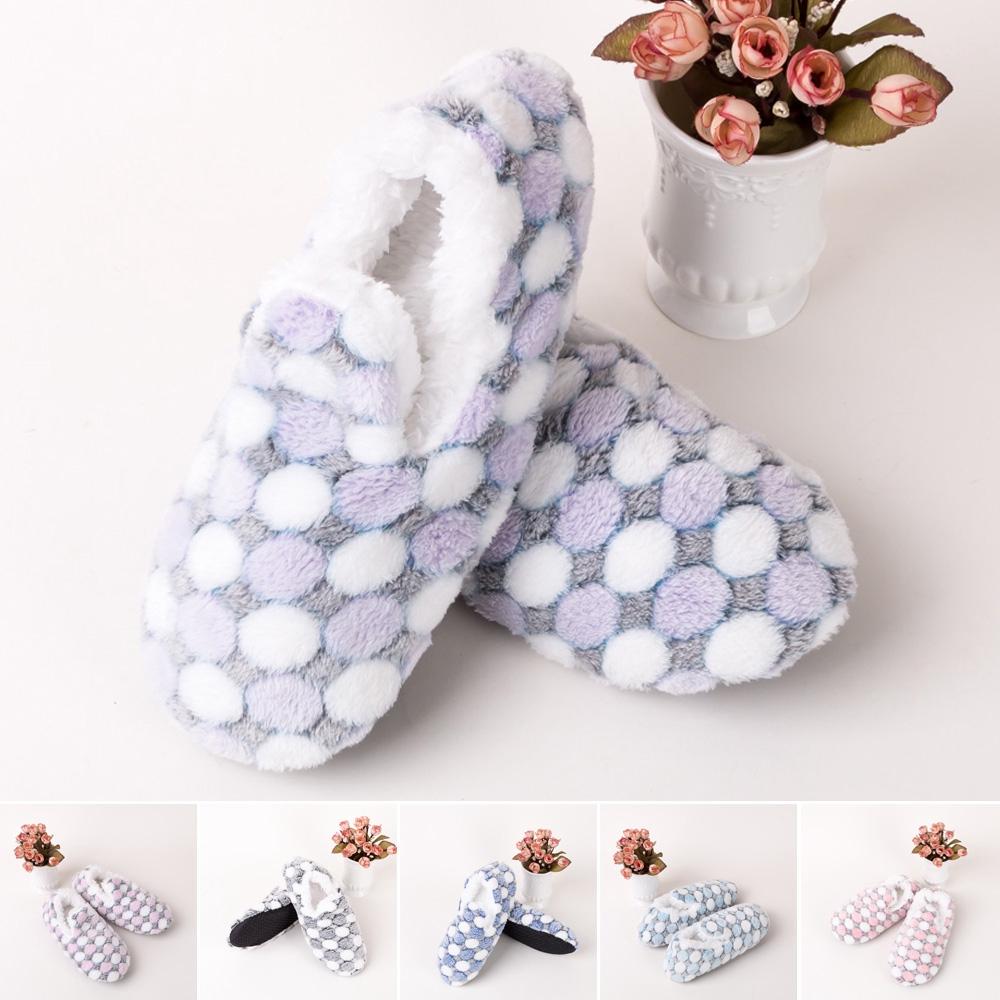 Slipper Winter Men Ladies Indoor Floor Soft Non-slip Fluffy Fur Home Shoes Sock
