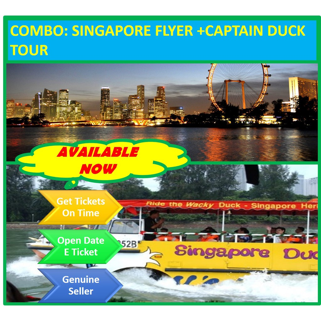 COMBO: The Original Singapore DUCKtour + Singapore Flyer