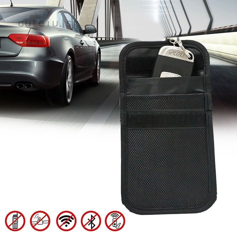 Keyless Entry Car Key Fob Signal Blocker Guard Protector Faraday Bag Pouch Black