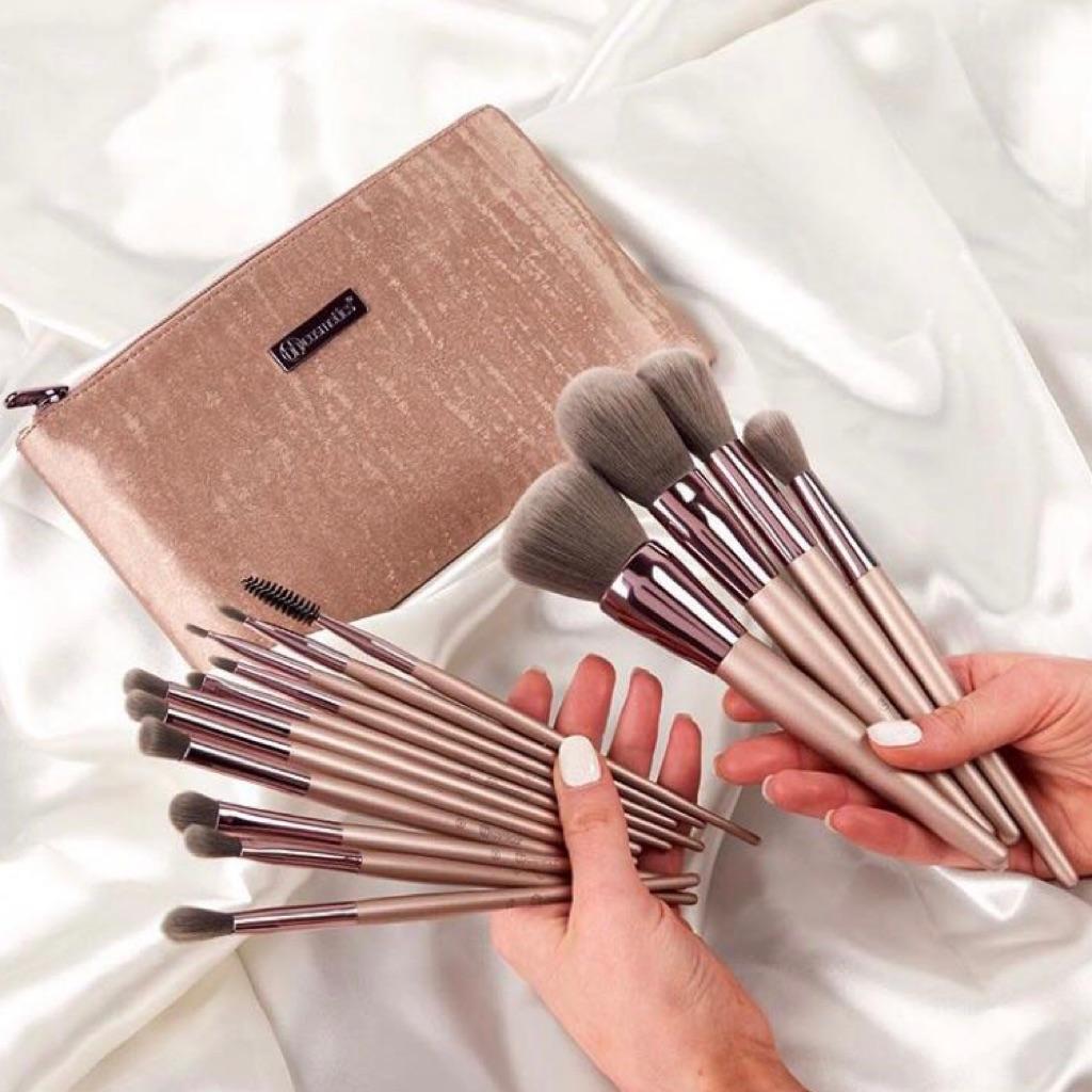 Lavish Elegance 15 Piece Brush Set by Bh Cosmetics | Shopee Singapore