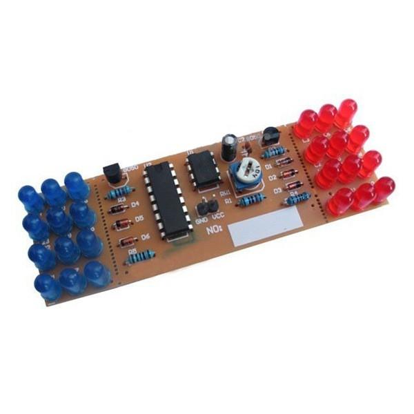 Red Blue Dual-Color Detonation Flashing Light DIY Kit Electronic Suit