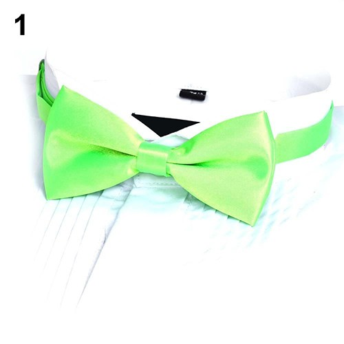 New formal men/'s polyester pre tied Bow tie wedding party stripes brown prom