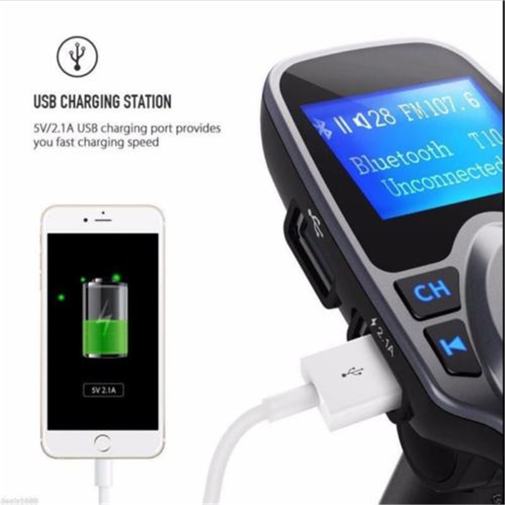 Bluetooth Fm Transmitter With Speaker And 21a Dual Usb Charger Car Bt20 Mp3 Wma Audio Hands Free Call 5v 34a Support Tf Card Music Pl Adapter Shopee Singapore