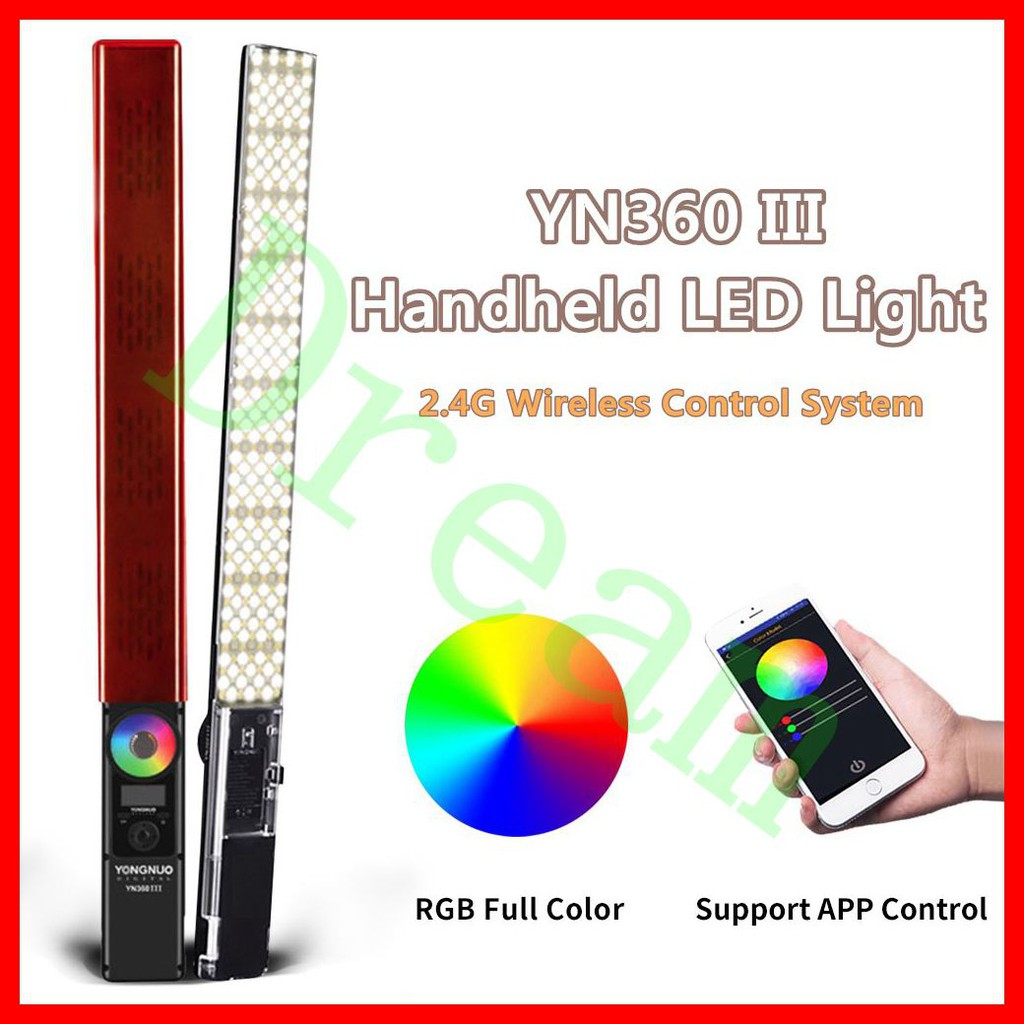 YONGNUO YN360III PRO YN360 III PRO LED Video Stick Ice Light 2.4G Remote Control Touch RGB Full Color CRI 95 App Support 5600K Color Temperature