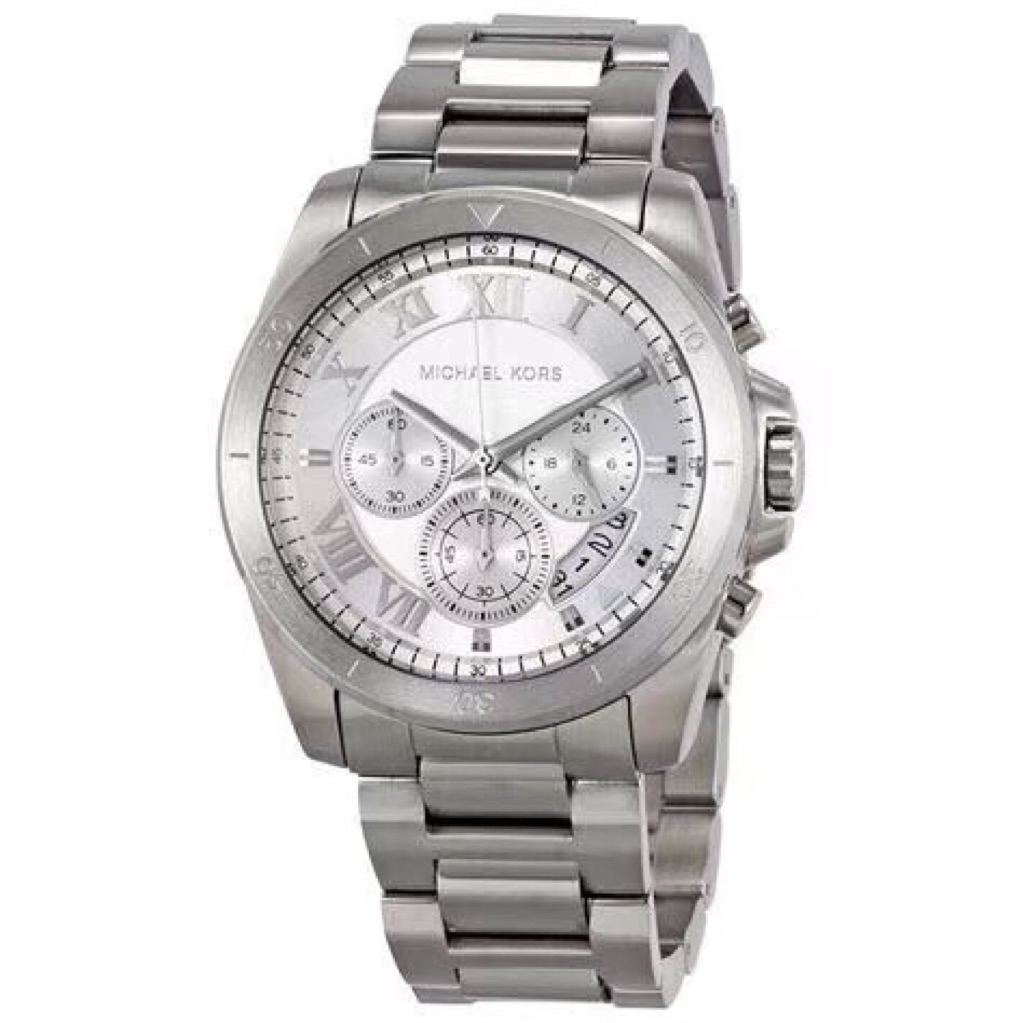 67d337cb4183 Michael Kors Bradshaw Silver Crystal Pave Dial Unisex Watch MK6320 ...