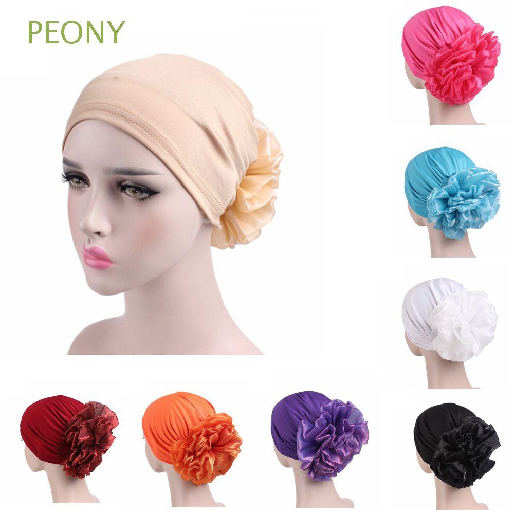876572855897a Flower Women s Fashion Stretch Head Wrap Hair Loss Chemo Cap ...