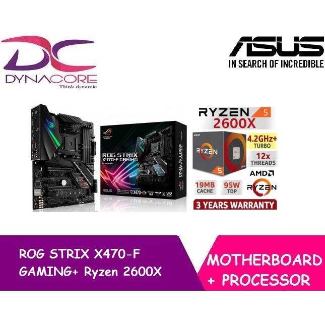 Asus ROG STRIX X470-F GAMING Motherboard + AMD Ryzen 2600X