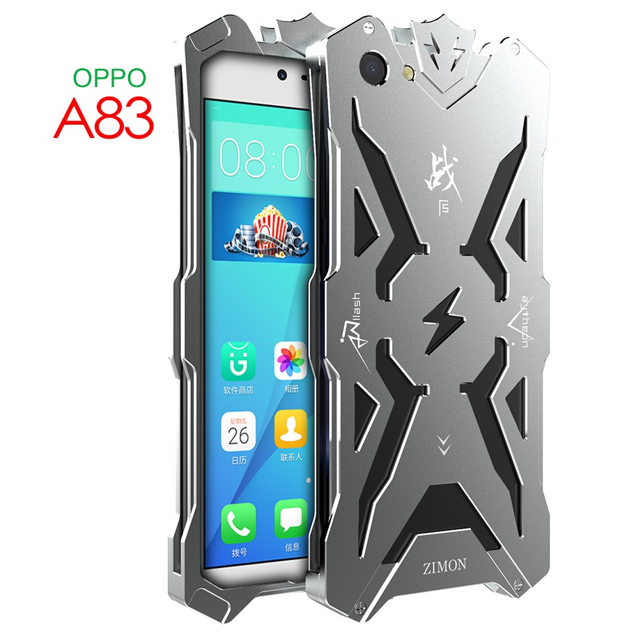 Simon Case for OPPO A83 Raytheon Shockproof Metal Back Cover