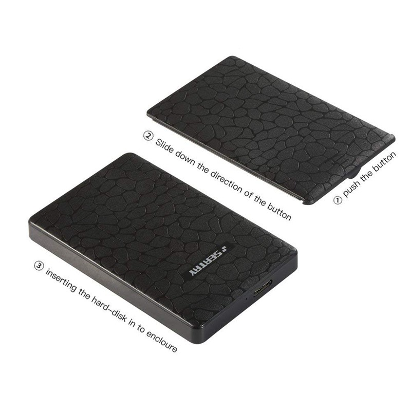 "USB 3.0 to 2.5/"" SATA Tool-Free Screwless External Hard Drive Enclosure HDD//SSD"