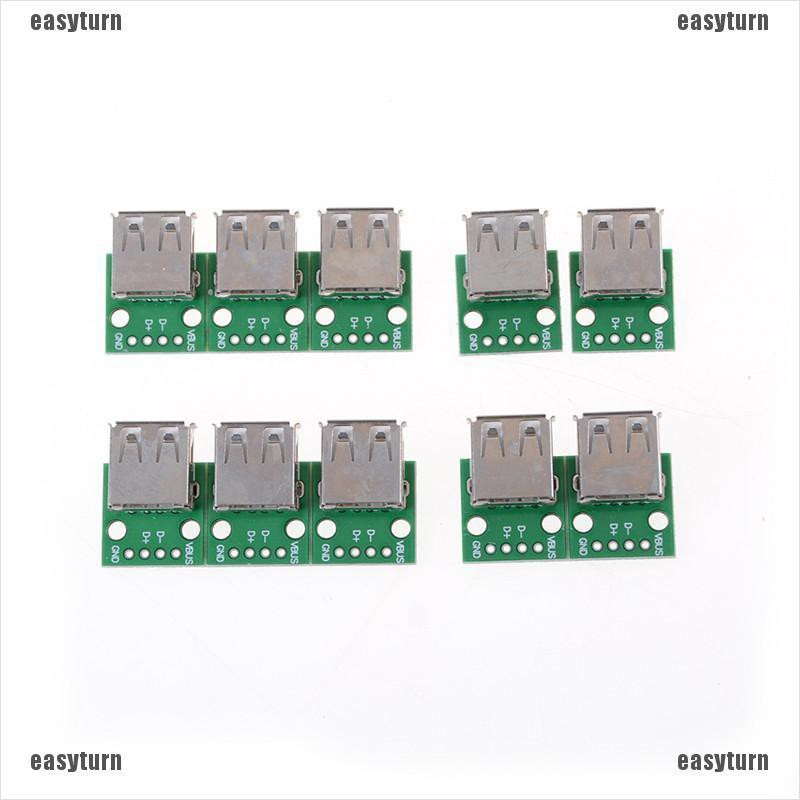 5PCS USB Male to 2.54mm DIP Adapter Converter Board 4 Pin PCB DIY Power Supply