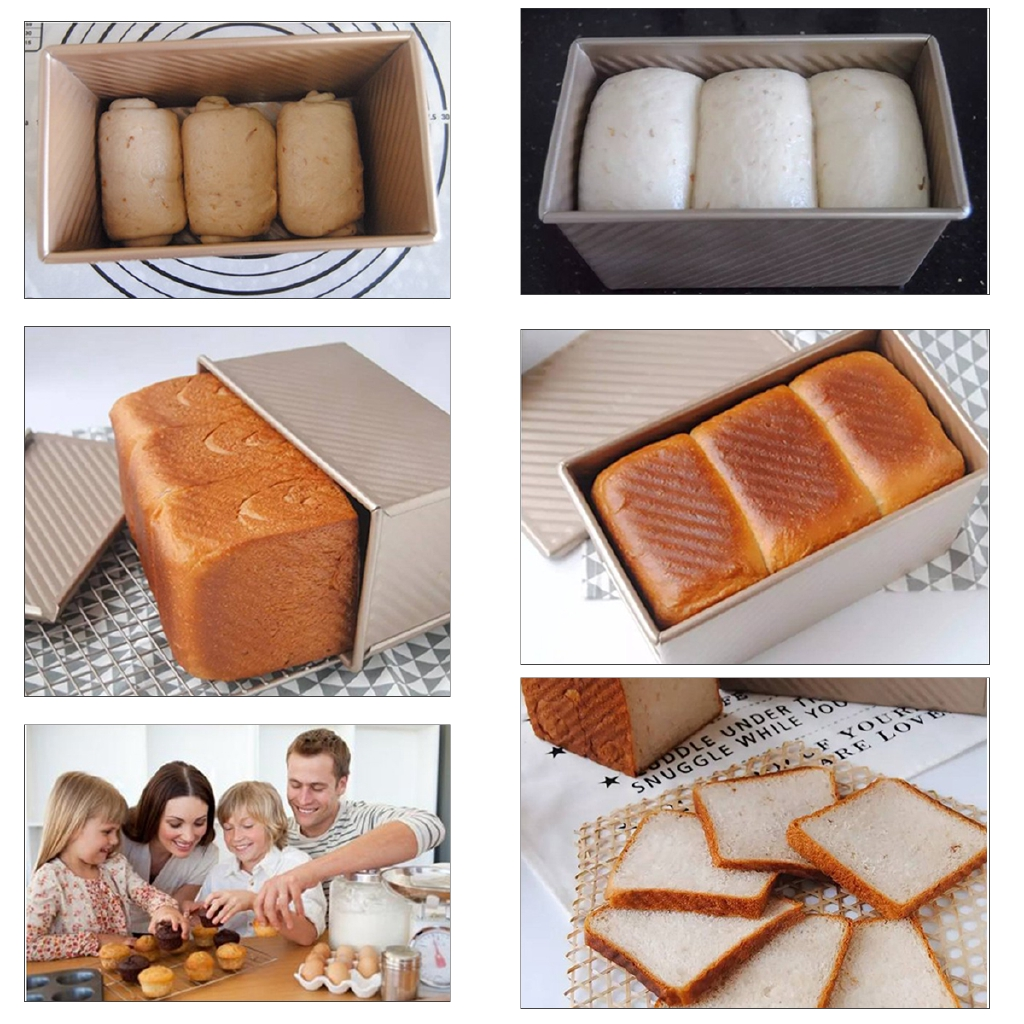 Silicone Rectangular Toast Bread Baking Mold Pan Cake Mould Bakeware 6L