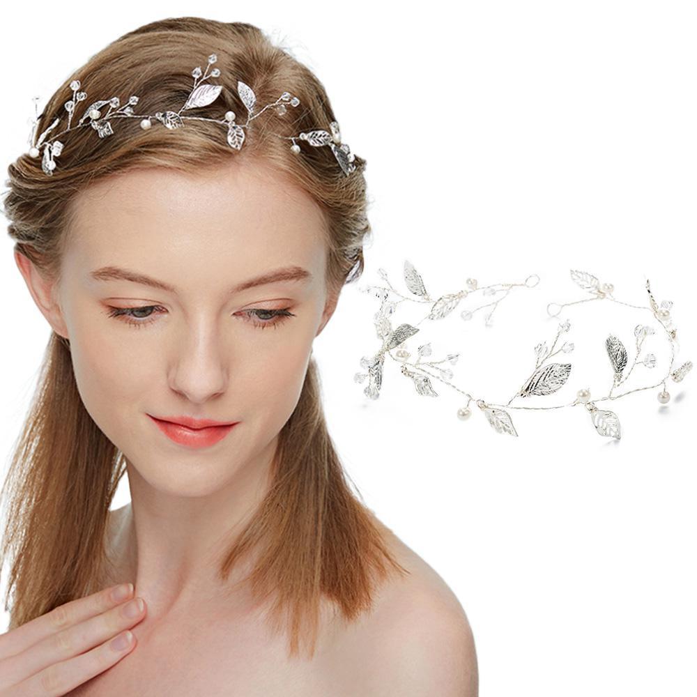 wedding bridal vintage leaf headband headpiece tiara bride hair accessories