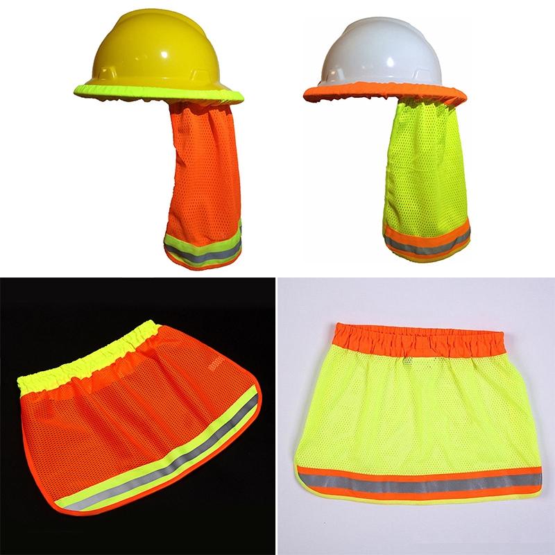 2deaae9ccfc72 New Construction Safety Hard Hat Neck Shield Helmet Sun Shade Reflective  Stripe