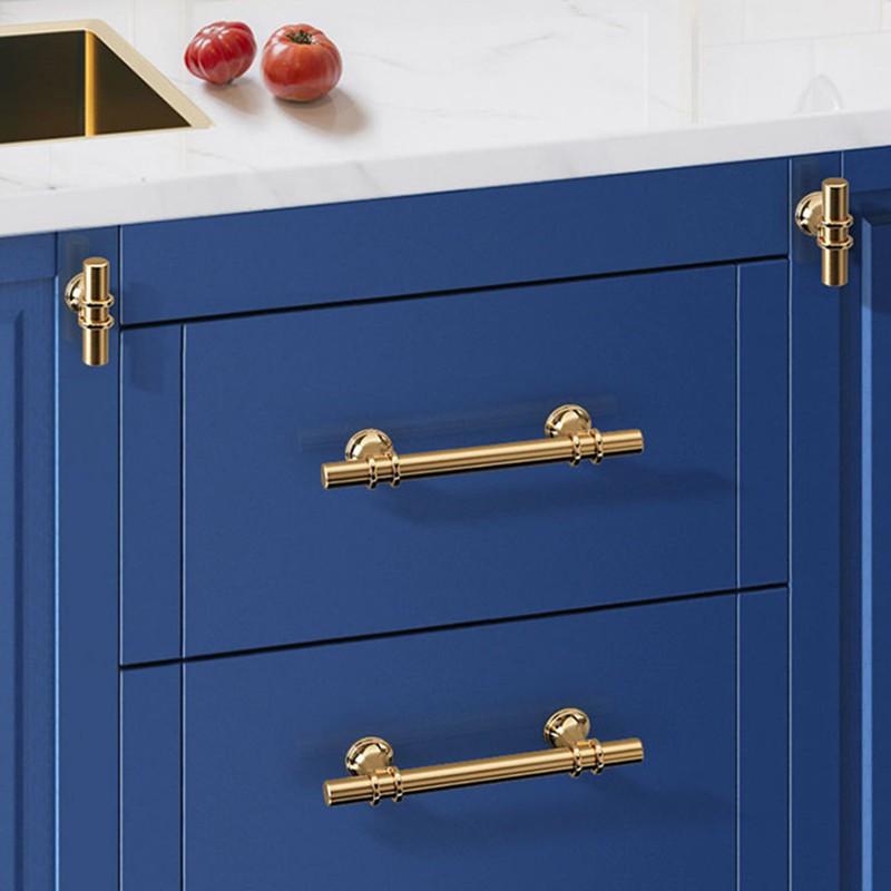 Kk Fing Modern Zinc Alloy Gold Door, Kitchen Cabinet Door And Drawer Hardware