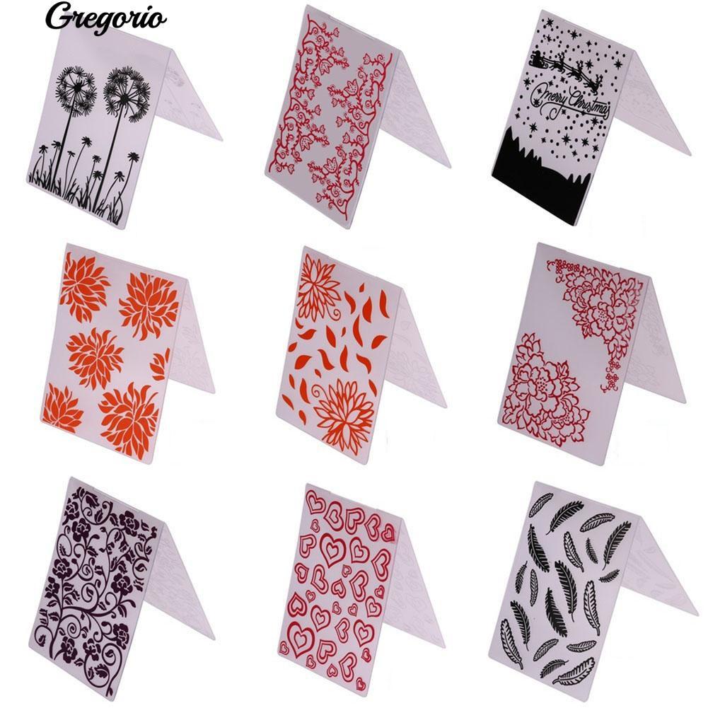 51 Plastic Cards Decor Scrapbooking Paper Crafts Stencils Embossing Folder Template Photo Album Decoration