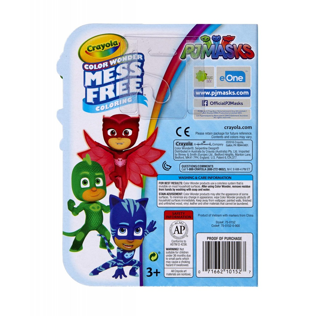 Crayola Color Wonder Mess Free Coloring Color On The Go Pj Masks 750152