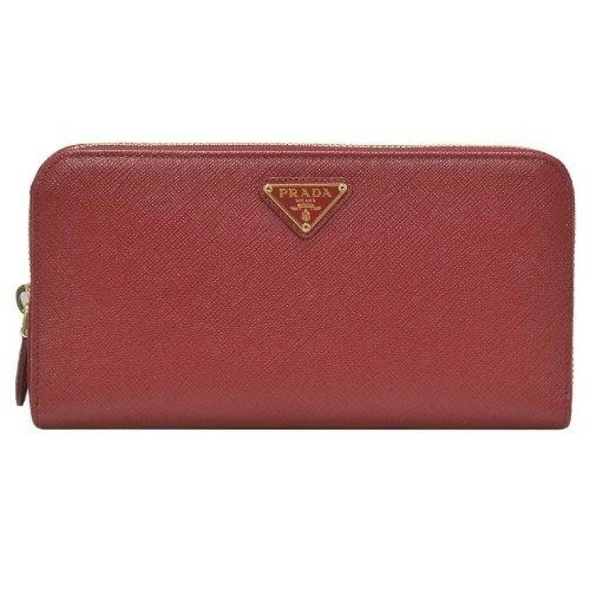 1771549c5d23 Prada Saffiano Leather Long Flap Wallet 1M1133 - Fuoco