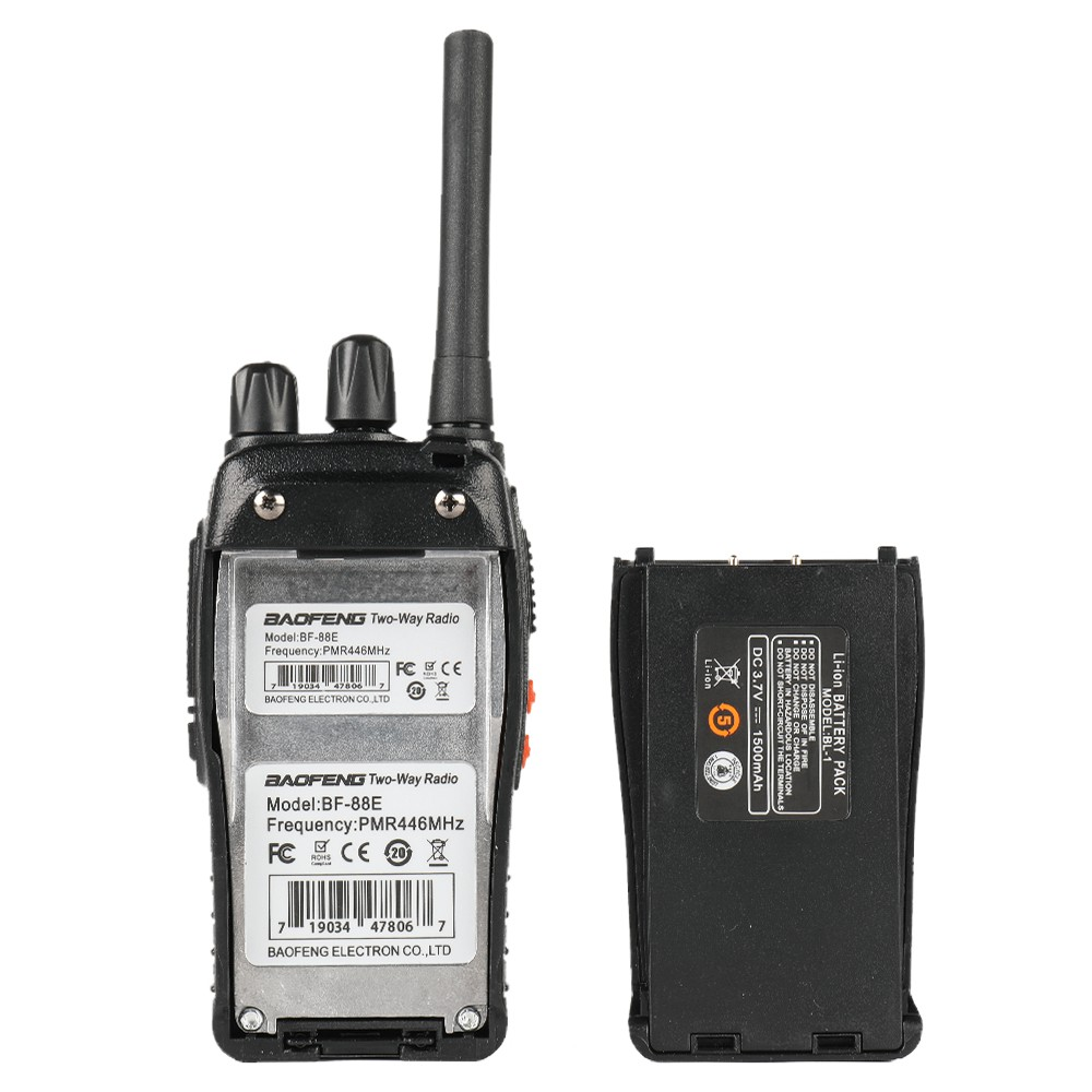 Singapore Stock License Free Imda Approved Pmr446 Radio Baofeng Bf 88e 2 Pcs One Pair 16 Channels Pmr Strong Battery Shopee Singapore