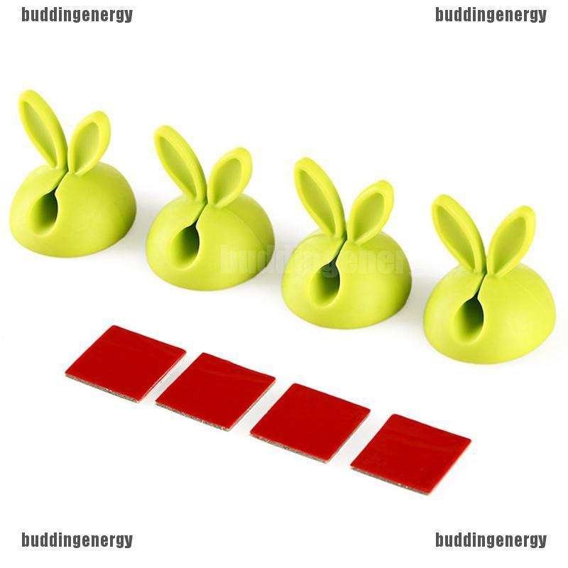 Rabbit Ear Cable Wire Cord Lead Drop Clips Charger USB Holder Desk TPR Organizer
