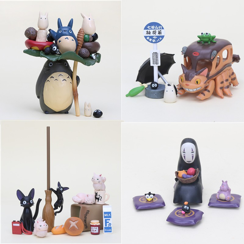10pcs//lot Spirited Away miniature figurines toys cute lovely Kids Toy ZY
