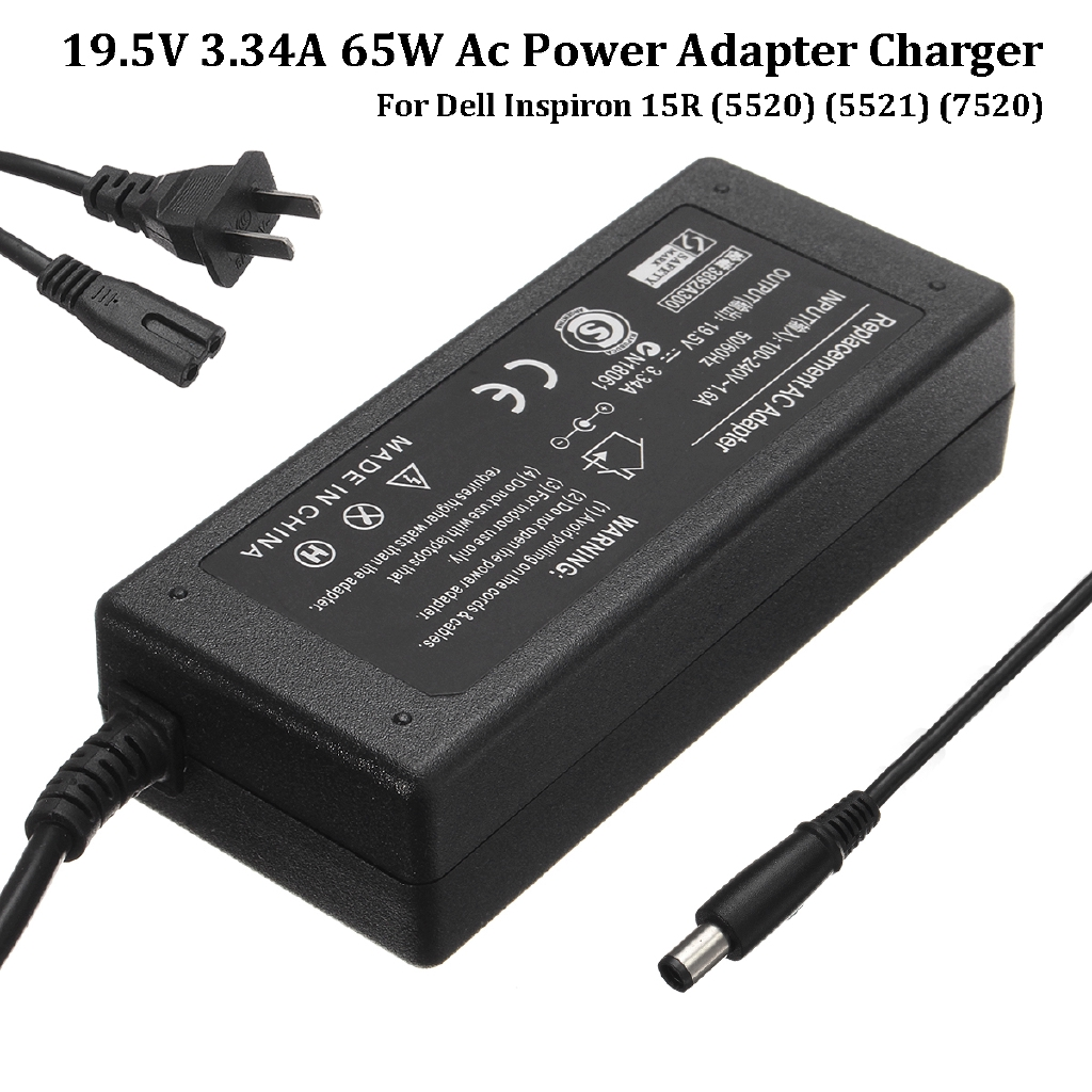 US Plug Power Adapter Supply Charger For Dell Inspiron 15R (5520) (5521)  (7520)