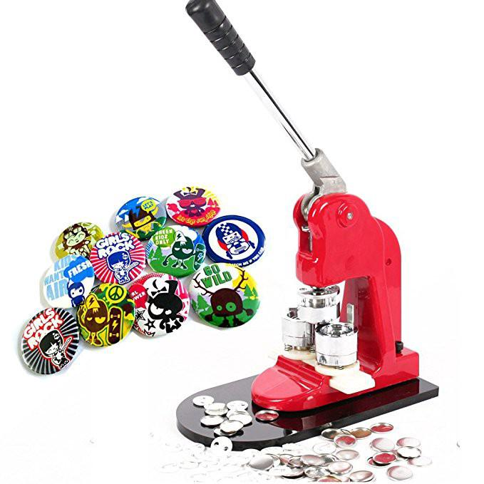 Button Badge Maker Machine with All Size Moulds for Button Badge making