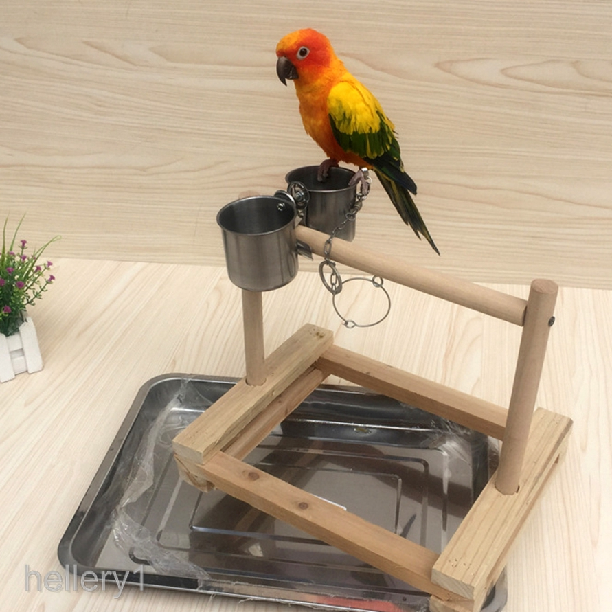 Bird Perch Parrot Stand Natural Wood Rough Sand Perches Grinding Nail 2x25cm