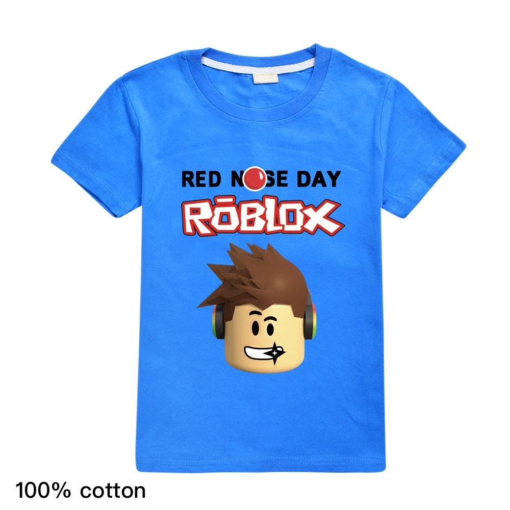 2020 Summer New Boy Roblox Printing T Shirts Clothing Baby Girl Short Sleeve Cartoon Tees Tops Kids T Shirt Clothes Shopee Singapore