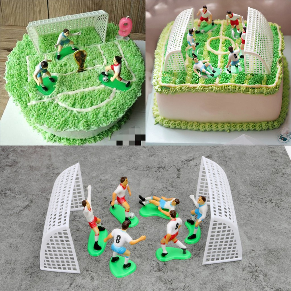 Awe Inspiring Soccer Field Cake Toppers Or Football Cake Topper Shopee Singapore Funny Birthday Cards Online Aboleapandamsfinfo