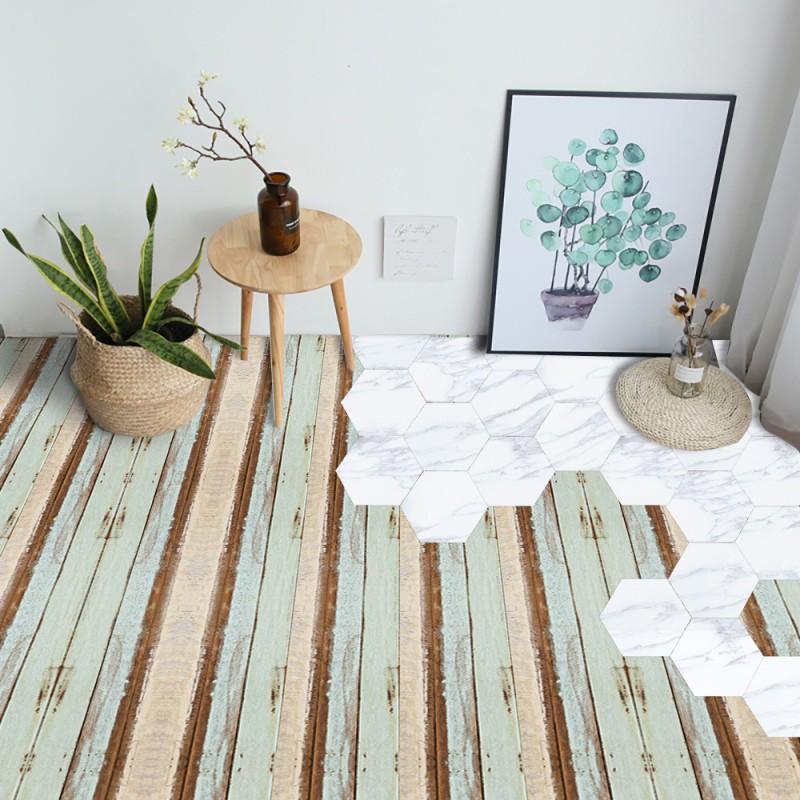 7pcs Fl Wood Grain Floor Tiles