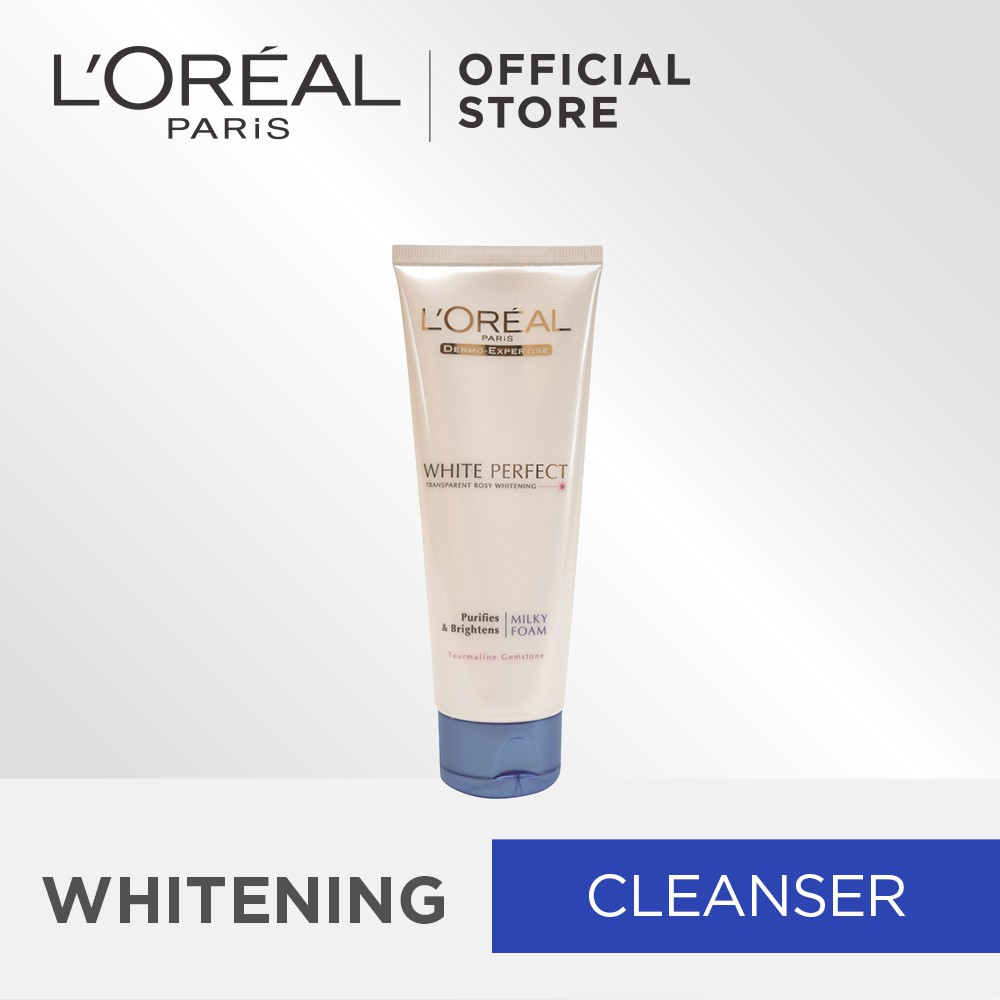 L'Oréal Paris White Perfect Purifying & Brightening Milky Foam Cleanser 100ml | Shopee Singapore