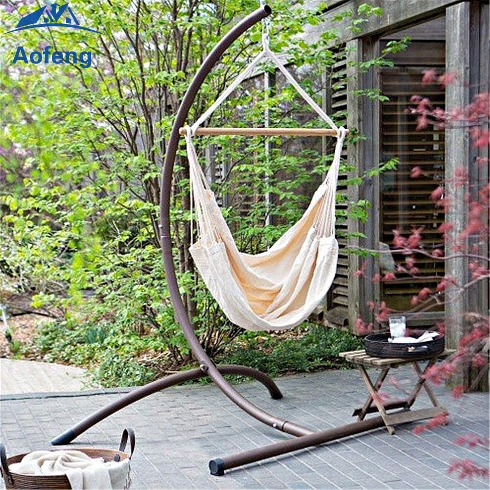 Hanging Hammock Chair Seat Rope Tree Portable Comfortable Camping Outdoor Porch