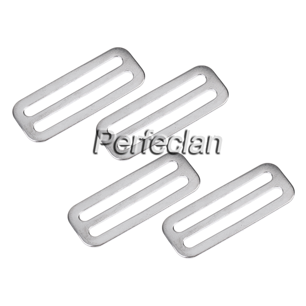 4 x 3 BAR SLIDE BUCKLES TO SUIT 40MM WEBBING HARNESS DIVING STAINLESS 316