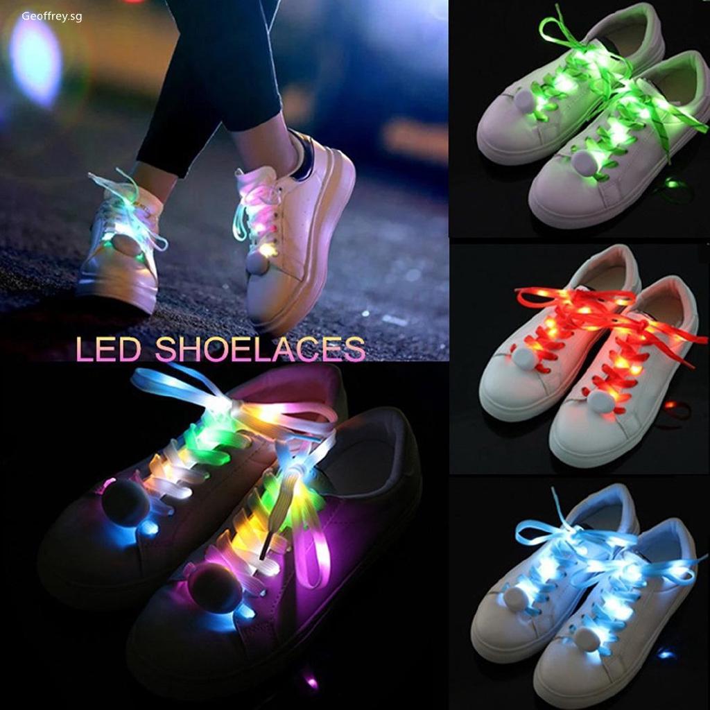 """Résultat de recherche d'images pour """"1Pcs Multi-Color Cool Night Run Neon LED Shoe laces Shoes Strap Glow Stick Light Shoelaces Accessories Party Supplies LED Shoe """""""