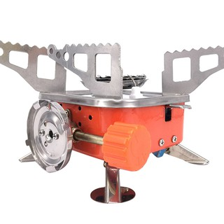 Windproof Camping Gas Stove Outdoor Cooking Foldable Stove Burner w//Bag