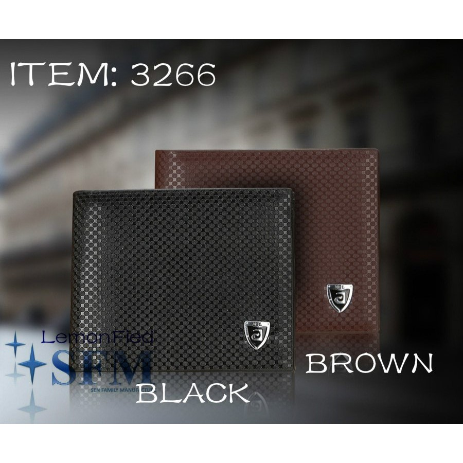 Mens Wallet 3266 Coin Pouch Card Holder Black Brown Leather Christmas Gift  Money
