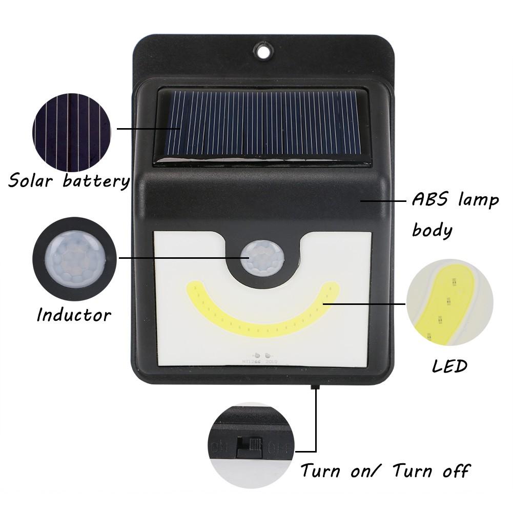 Kaitlyn☺COB Solar Power Sensor Outdoor Wall Garden Light LED Waterproof on