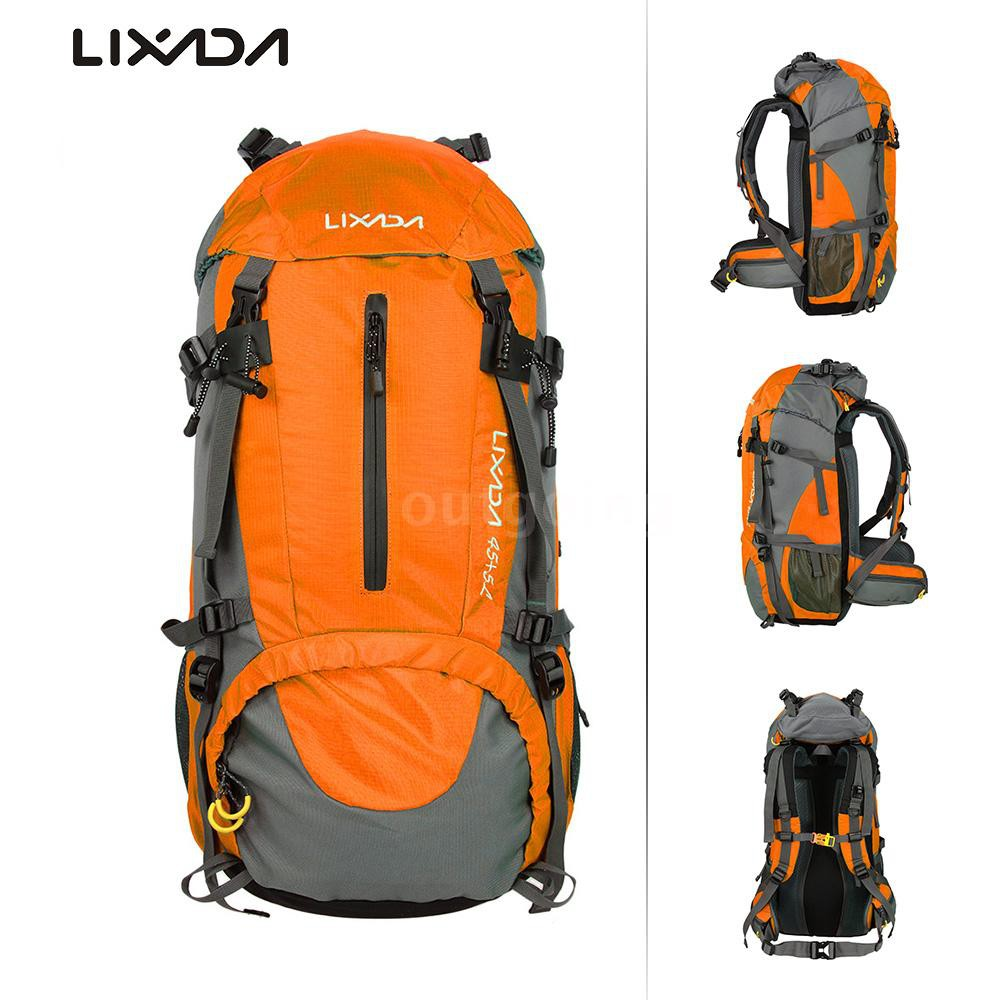 5cefde12c667 Lixada 50L Water Resistant Outdoor Sport Hiking Camping Travel Backpack  Pack Mou