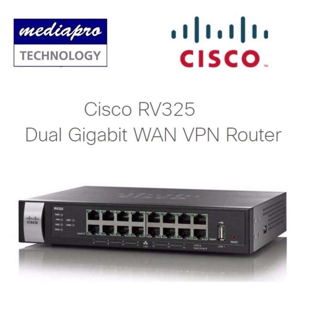 CISCO RV325 Dual Gigabit WAN VPN Router with 14-port Gigabit Switch Local  Warran