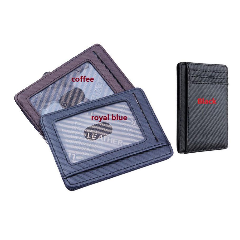 Slim Front Pocket Wallet ID Credit Card Holder Case RFID Blocking Penny Purse