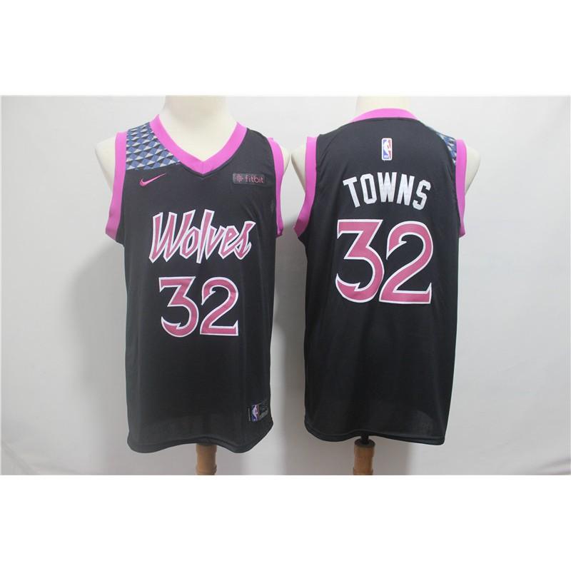 5514f98a9297 Men NBA Minnesota Timberwolves  32 Towns Statement Swingman Jersey ...