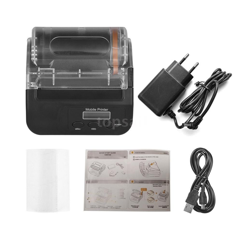 GOOJPRT Portable Wireless BT 80mm Self Adhesive Thermal Label Maker Mini  Thermal Receipt Printer High Speed Bill Ticket