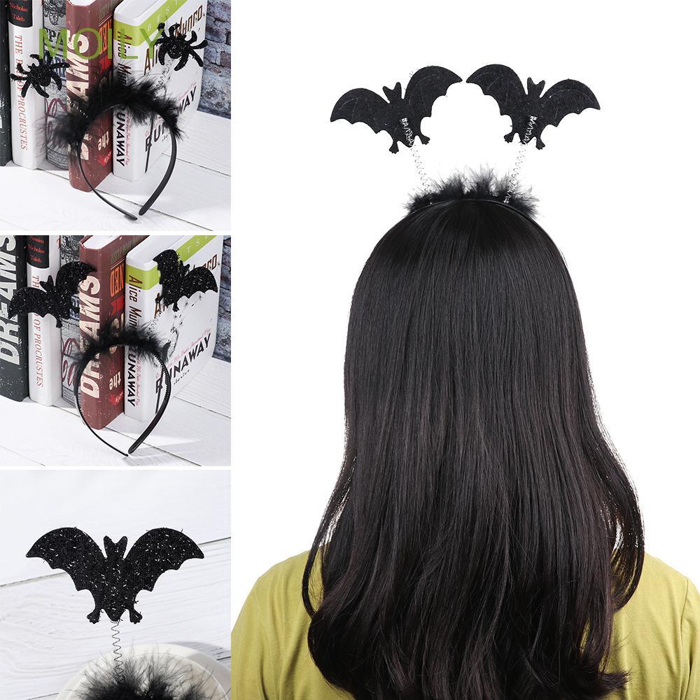 Bat Wings Ears Hair Hoop Halloween Party Headband Hairband Headwear Cosplay SG