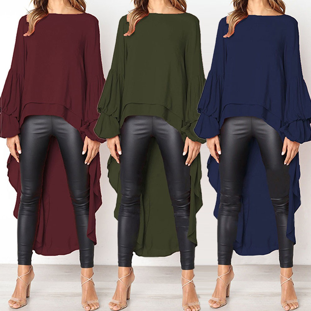 Plus Size See Through Long Sleeve Shirt Ladies Casual Blouse Tops Club UK 16-20