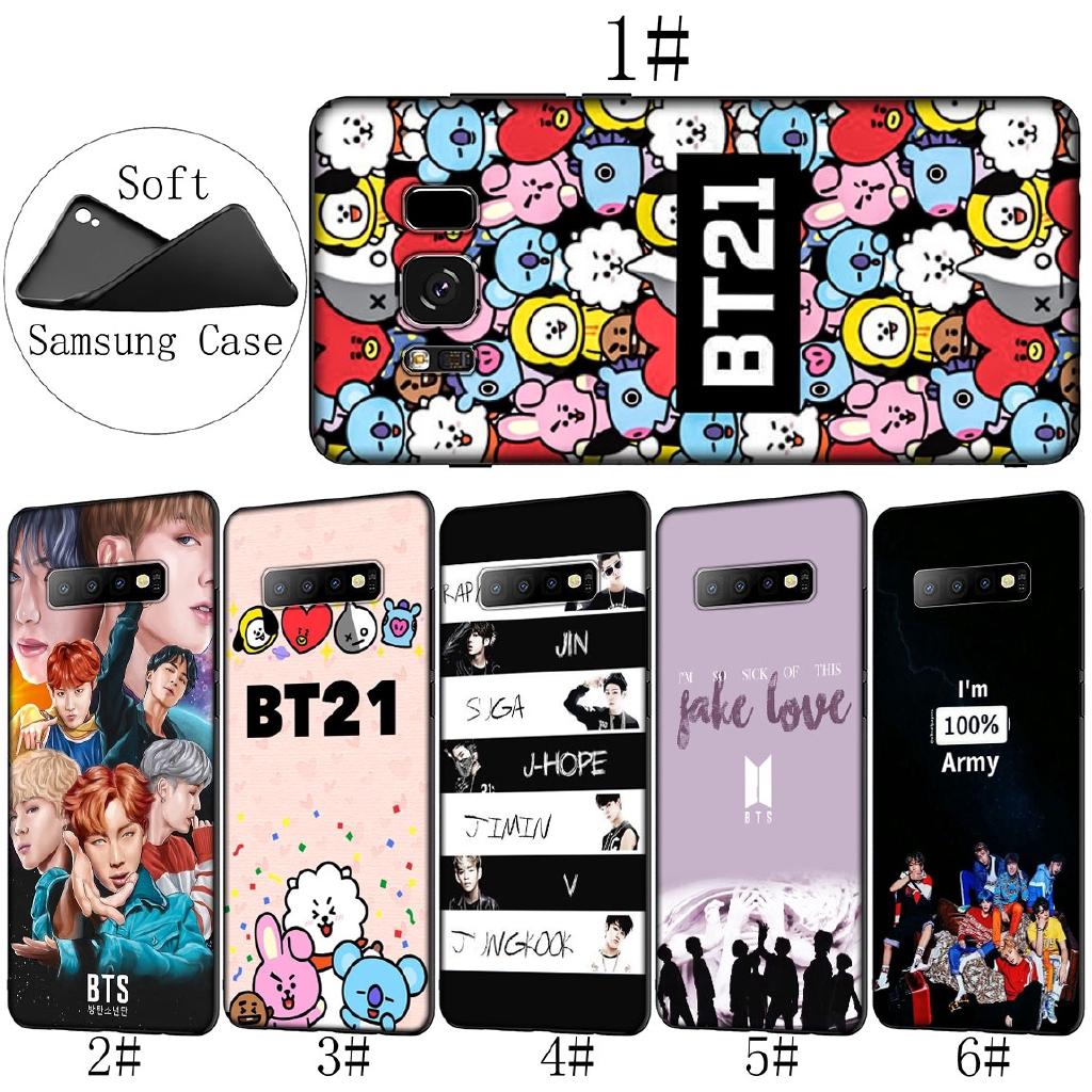 Samsung Galaxy S10 E S8 S9 Plus S7 Soft Cover Bts Bt21 Bangtan