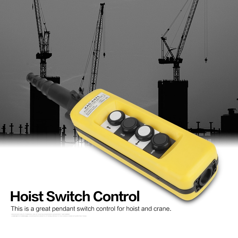 Crane Button Door Button Hoist Button BOX 4 switch 4 GANG control box push